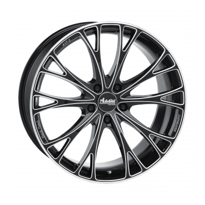 Advanti Wheels Black pearl Sort frontpolert